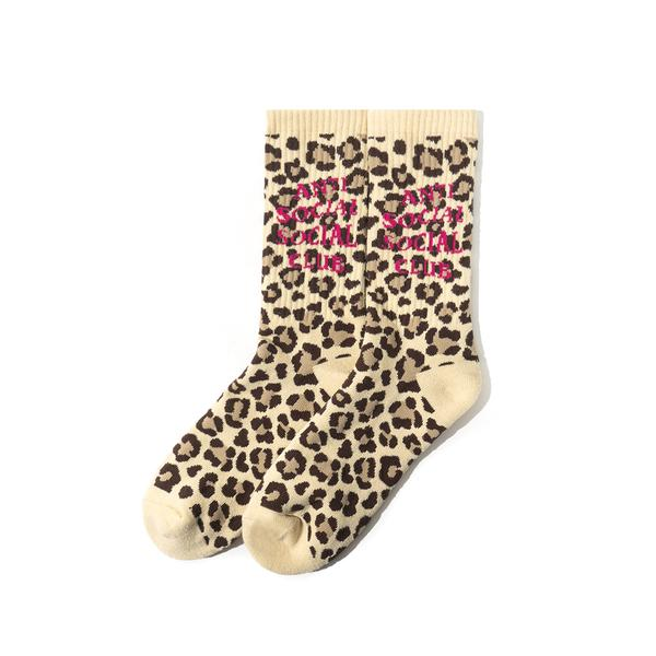 Pre-owned Anti Social Social Club  Bondi Beach Socks Cheetah