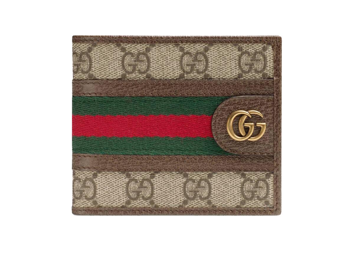 Pre-owned Gucci  Ophidia Gg Wallet Beige/ebony