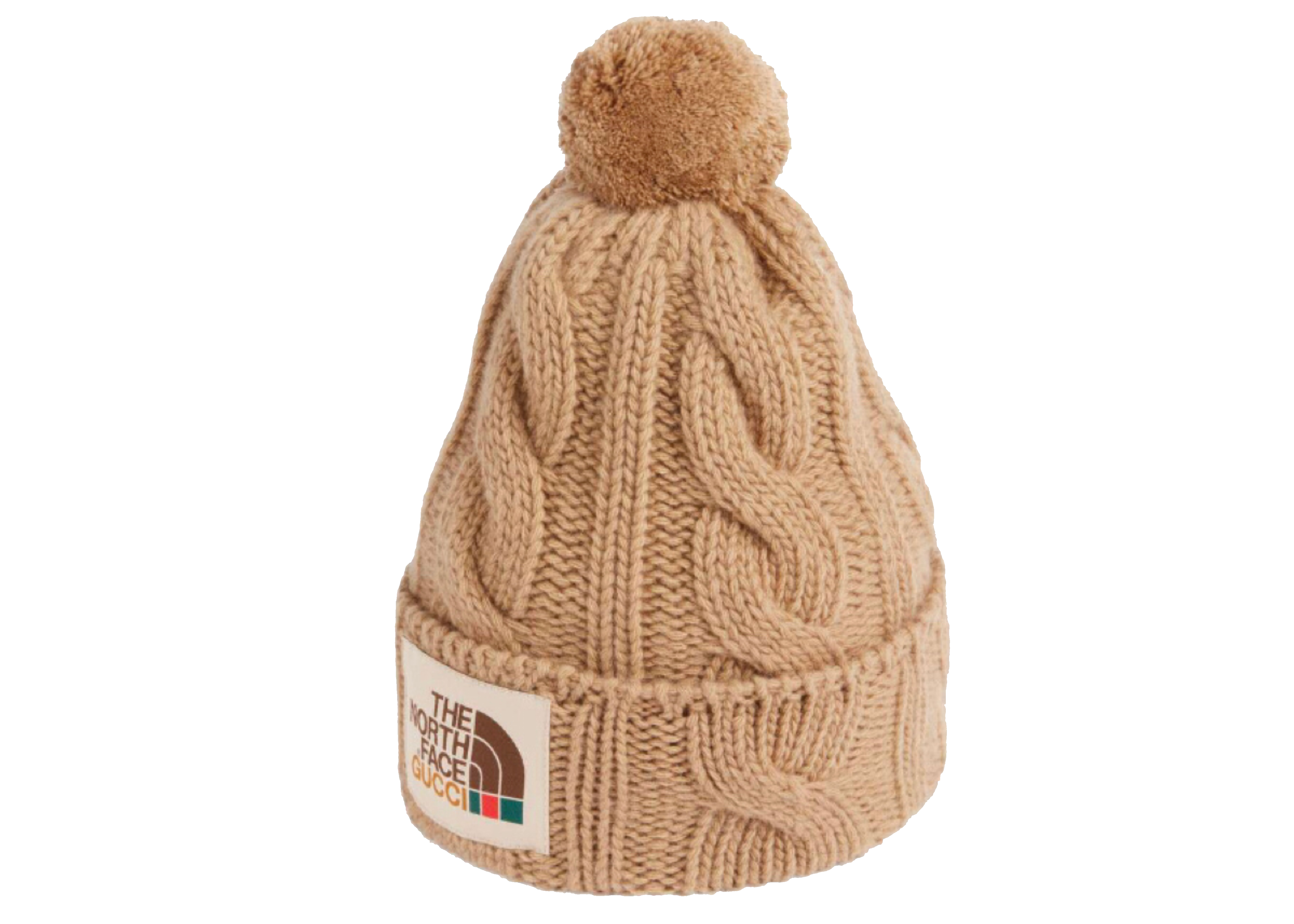 Pre-owned Gucci  X The North Face Wool Hat Beige