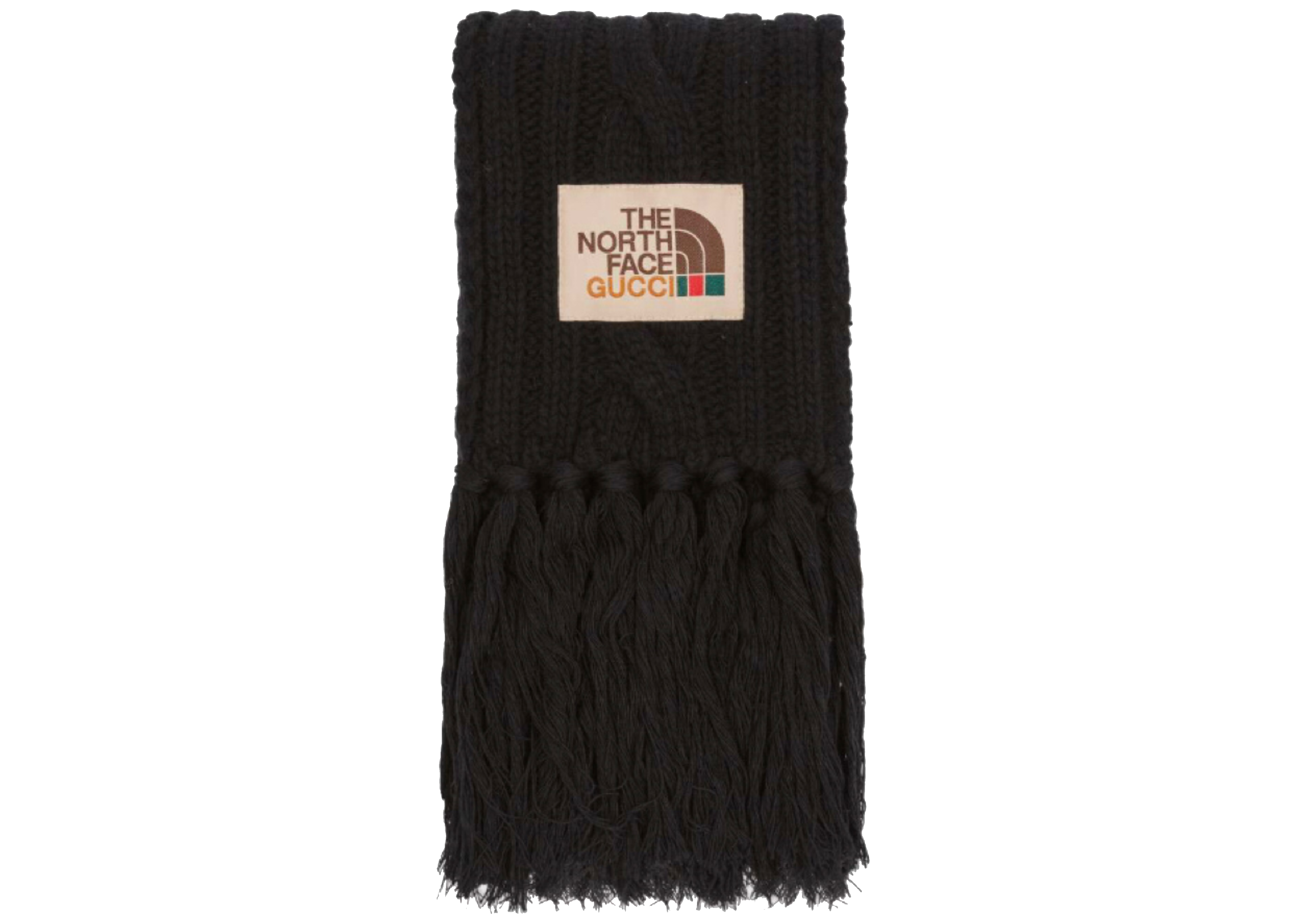 Pre-owned Gucci  X The North Face Wool Scarf Black
