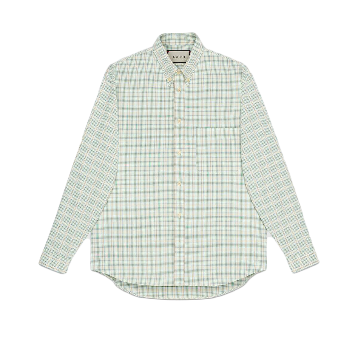 Pre-owned Gucci  X The North Face Button-down Shirt White/green
