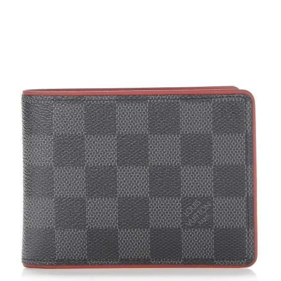 Louis Vuitton Multiple Wallet Damier Graphite Black/Red