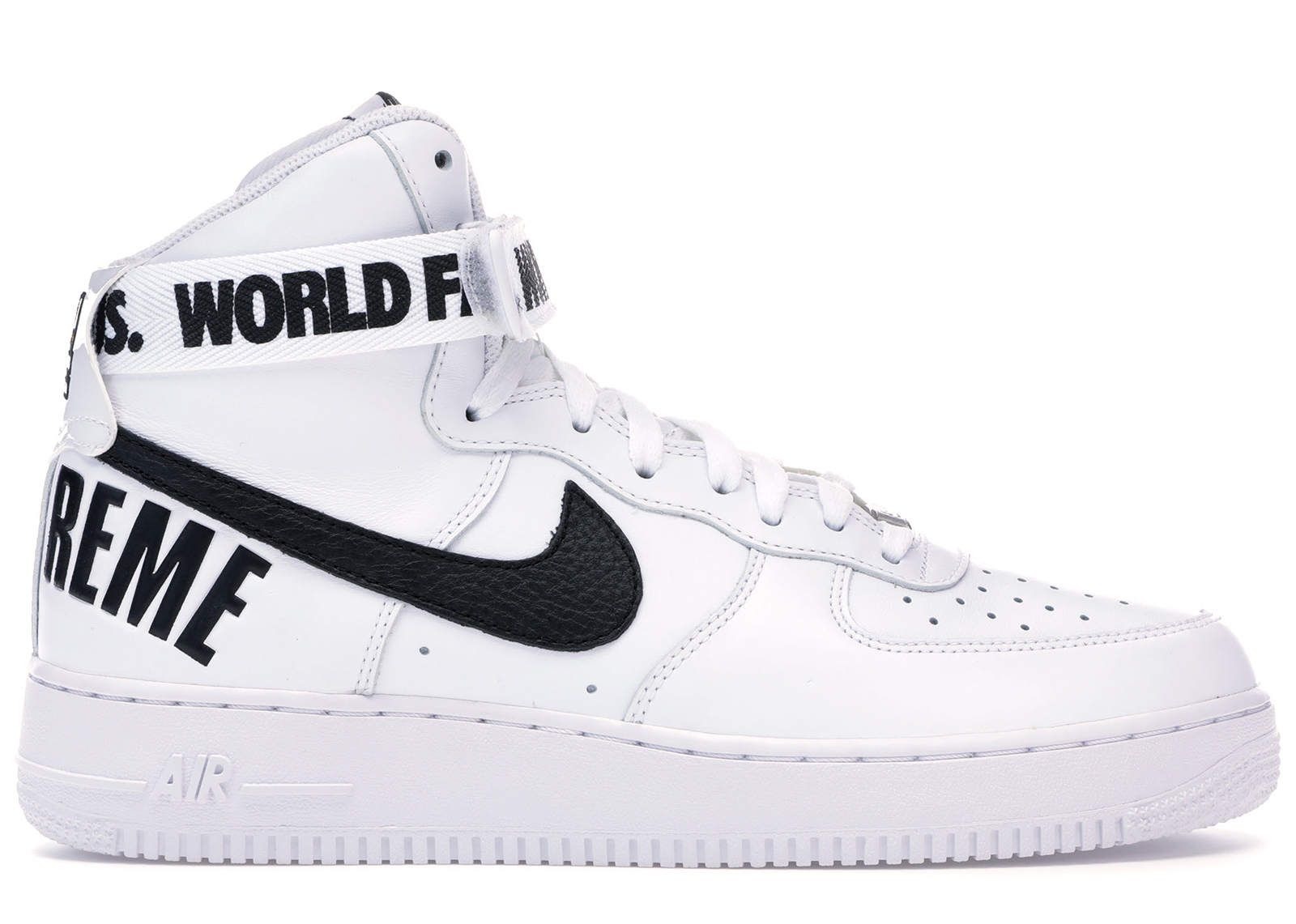 Nike Air Force 1 High Supreme World Famous White