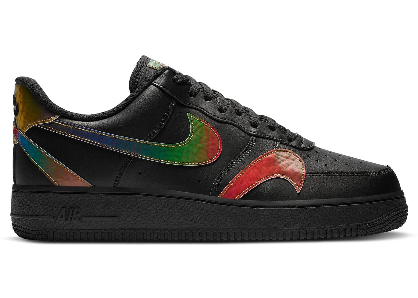 Nike Air Force 1 Low Misplaced Swooshes Black Multi