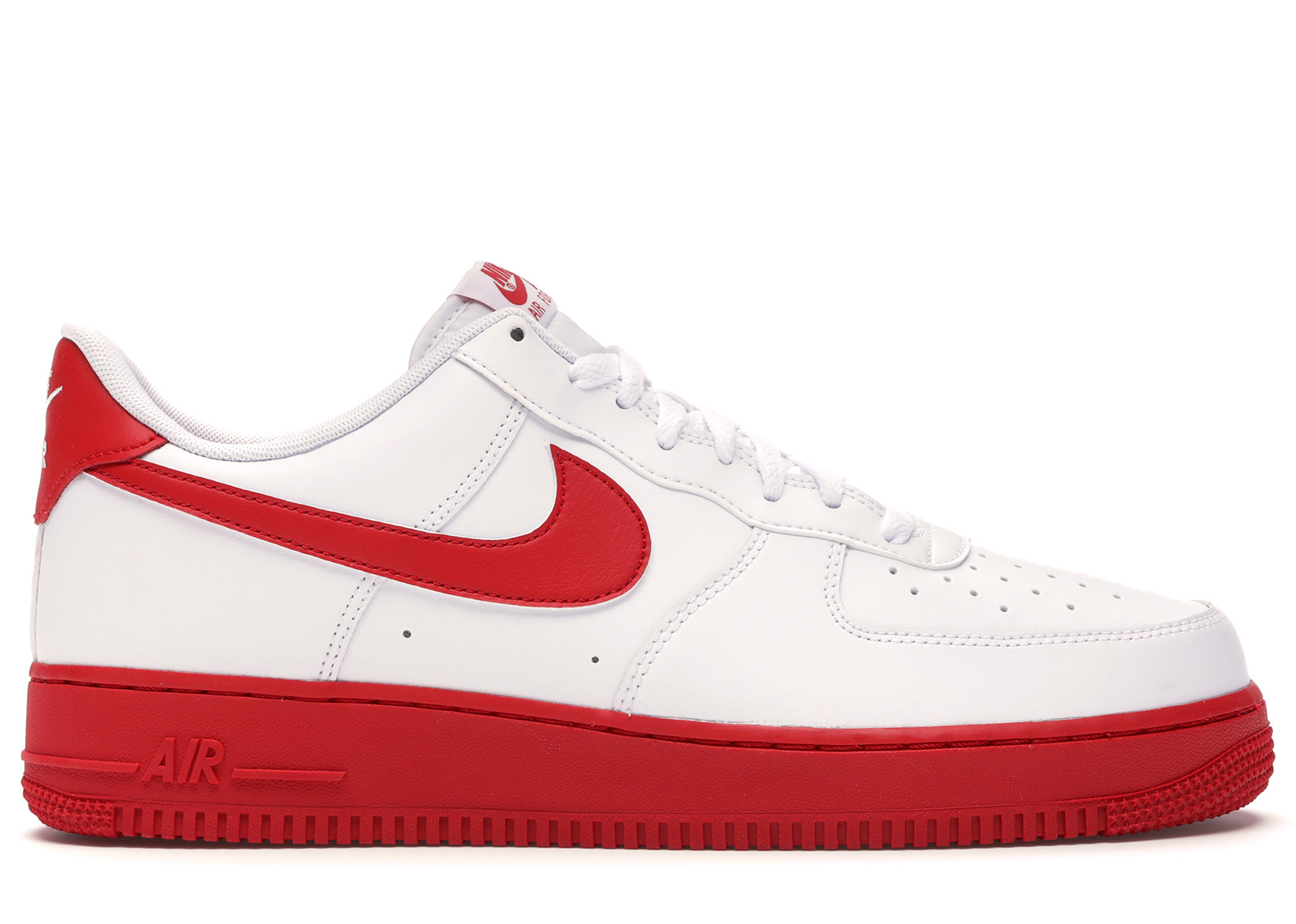 Nike Air Force 1 Low White Red Midsole