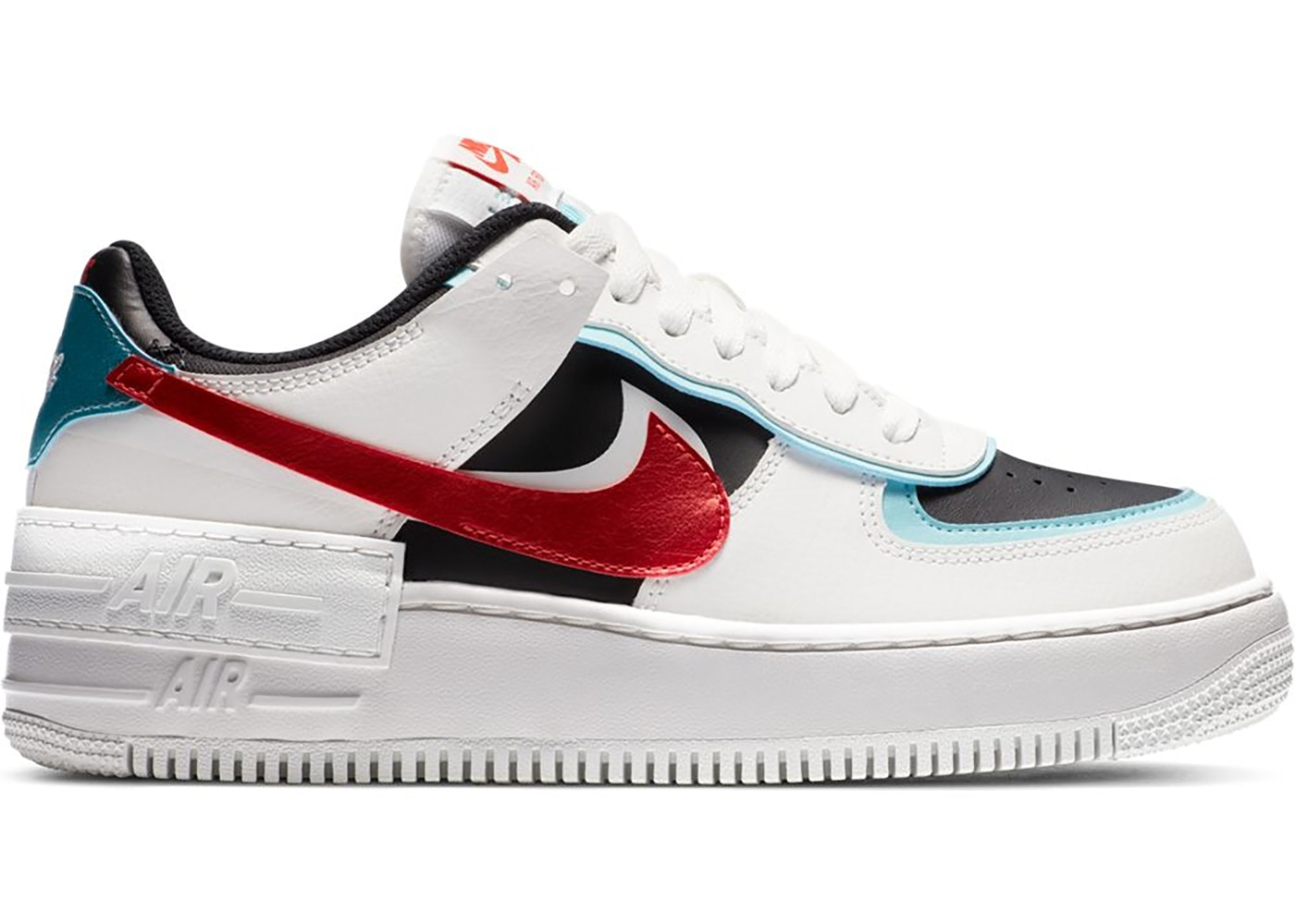 Nike Air Force 1 Shadow Bleached Aqua Chile Red W Da4291 100 The model, which is a women's exclusive, sets an example for. nike air force 1 shadow bleached aqua chile red w