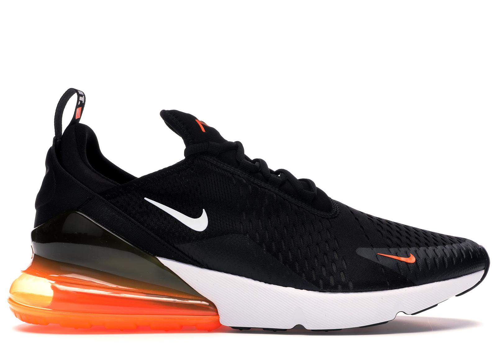 Nike Air Max 270 Black White Total Orange