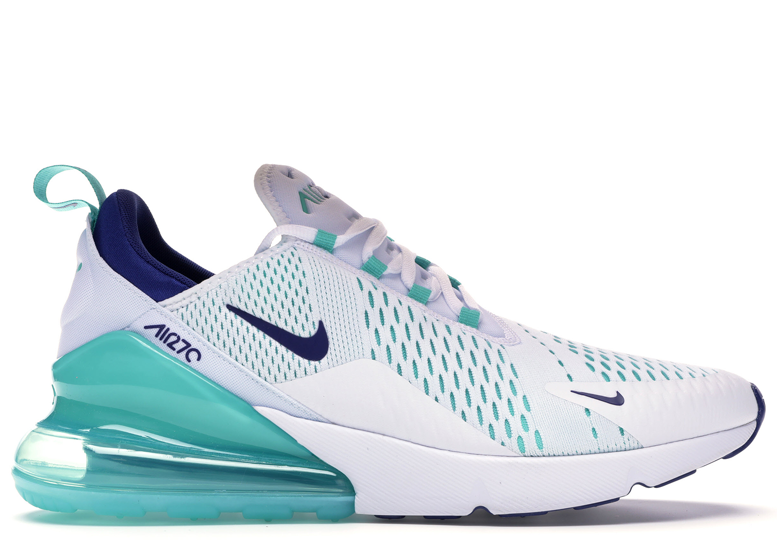 Nike Air Max 270 White Hyper Jade Deep Royal Blue