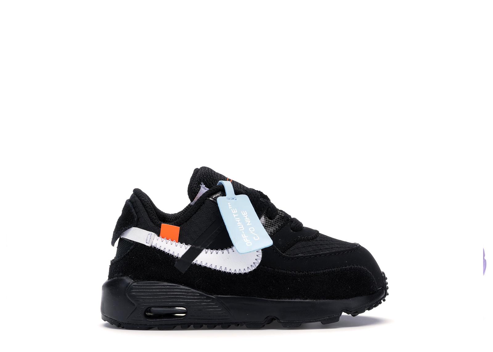 Nike Air Max 90 OFF-WHITE Black White (TD)