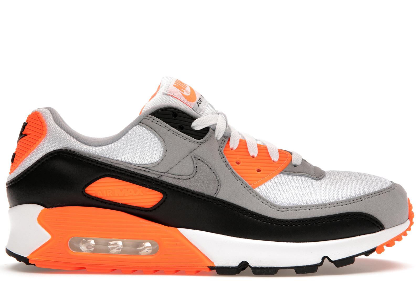 air max 90 noir orange