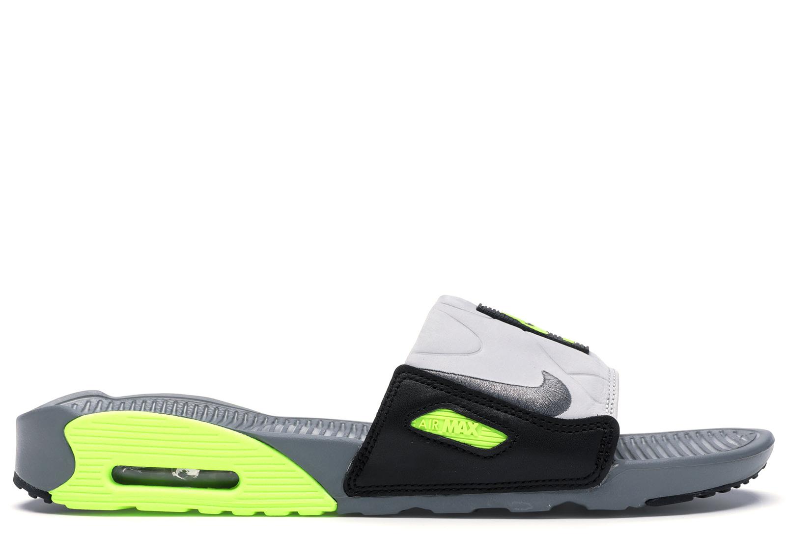 Nike Air Max 90 Slide Smoke Grey Volt Black
