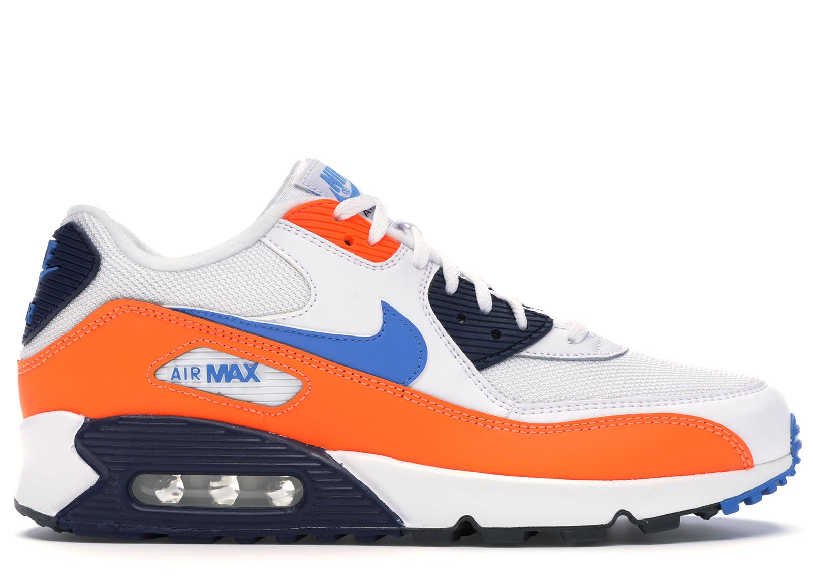 Nike Air Max 90 White Photo Blue Total Orange