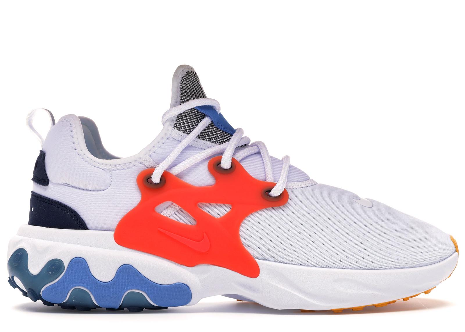 Nike React Presto White Habanero Red