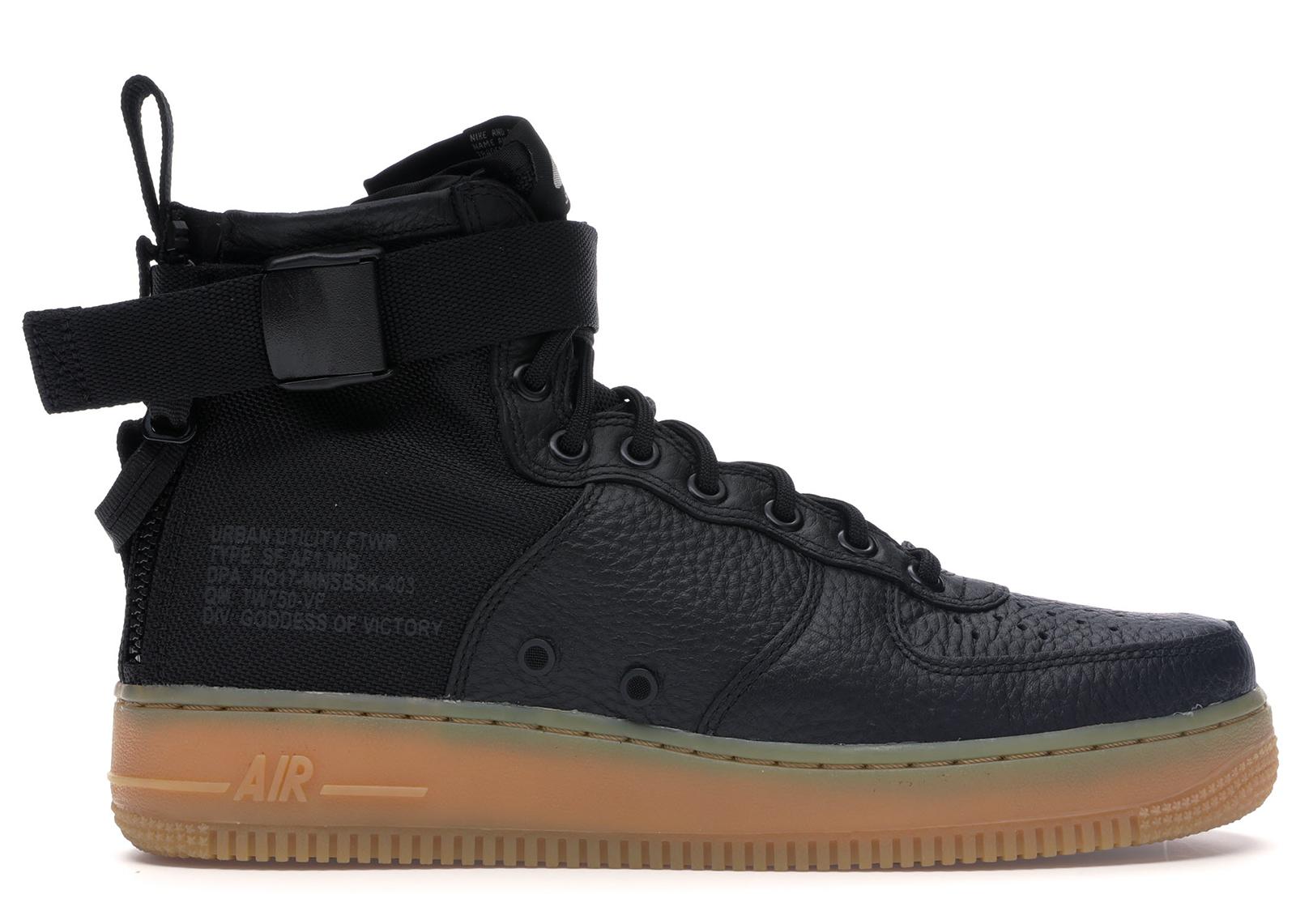 Nike SF Air Force 1 Mid Black Gum
