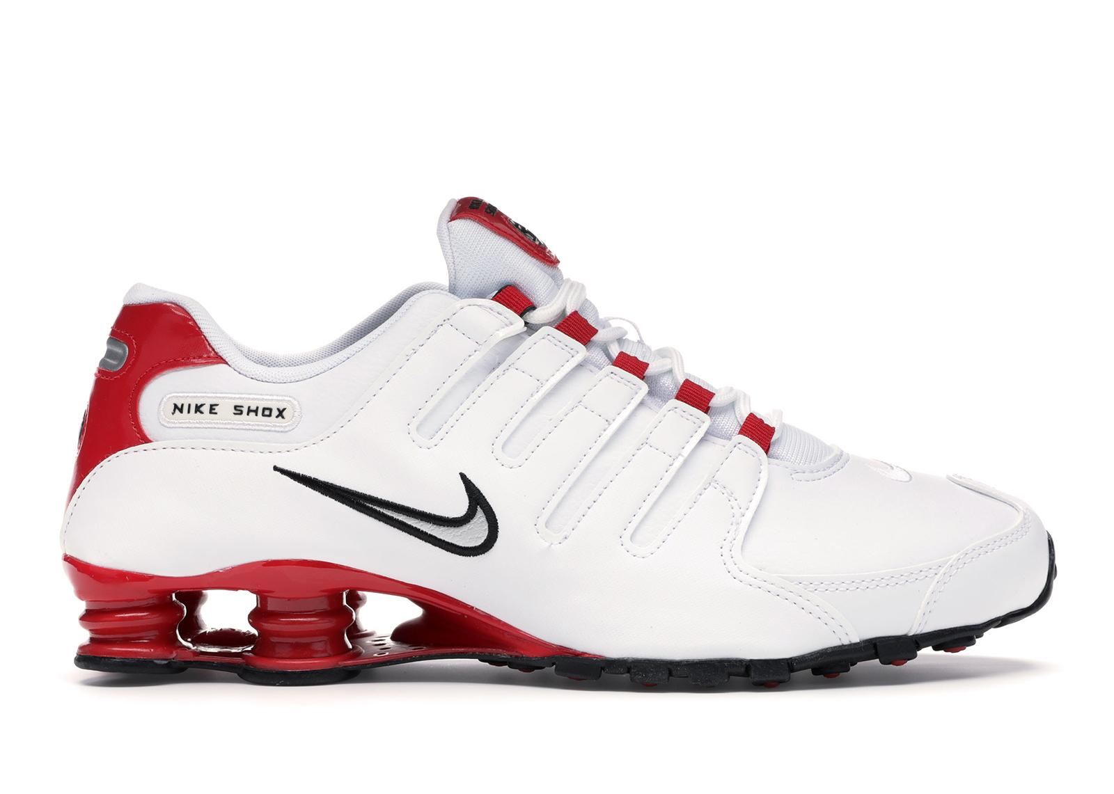 Nike Shox NZ White University Red