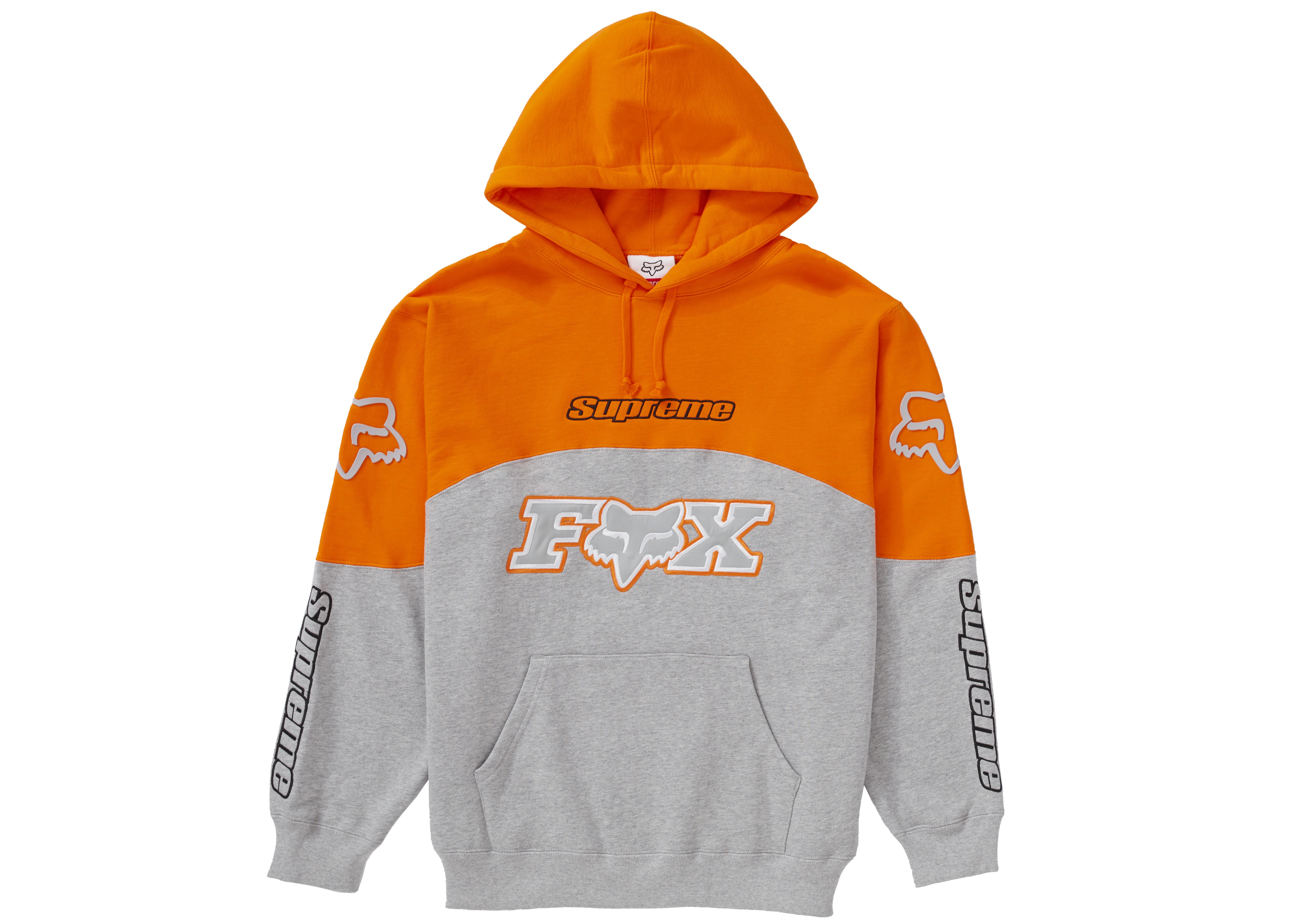 Supreme Fox Racing Hooded Sweatshirt Grey