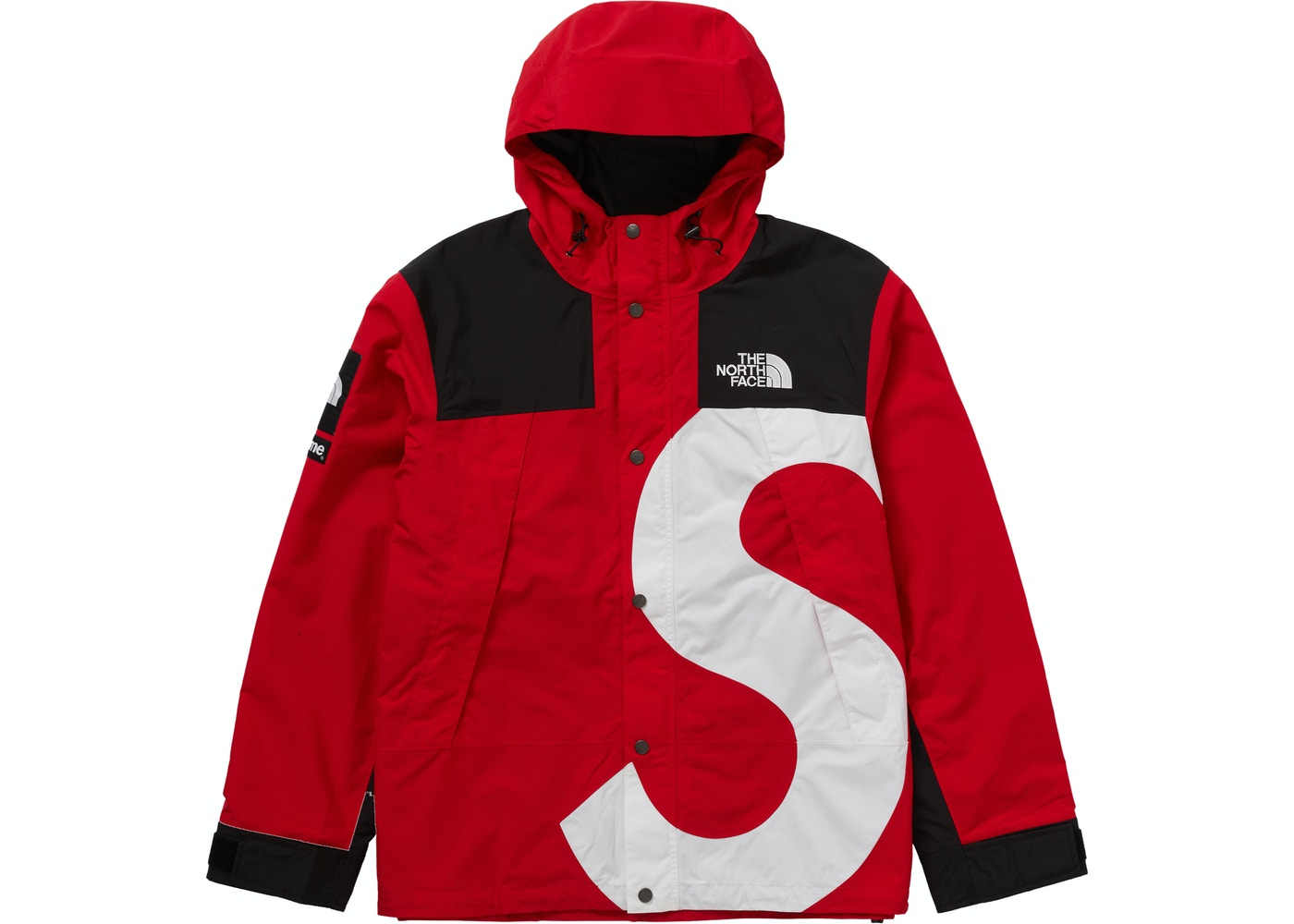 North Face S Logo Mountain Jacket Red