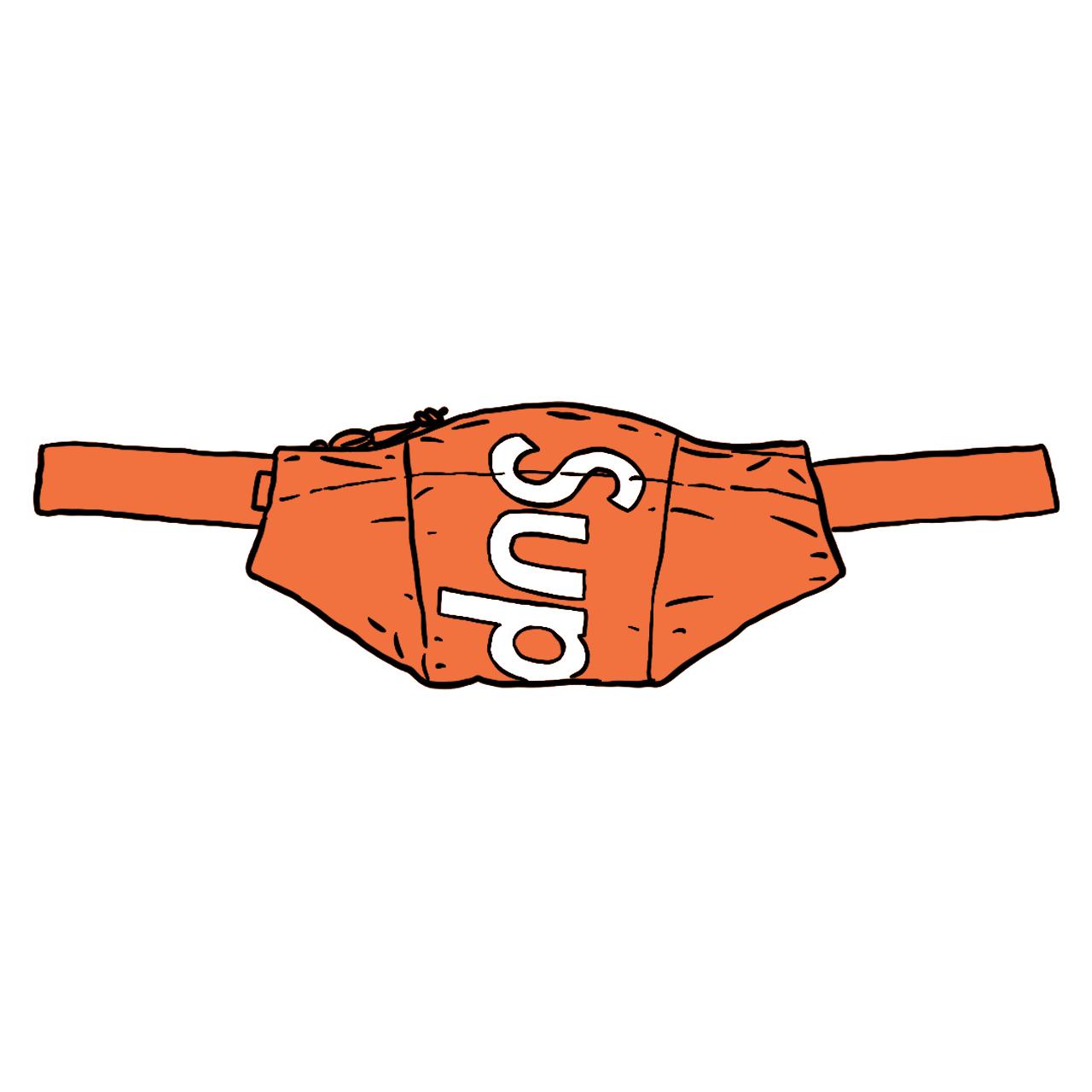 Supreme Waterproof Reflective Speckled Waist Bag Orange