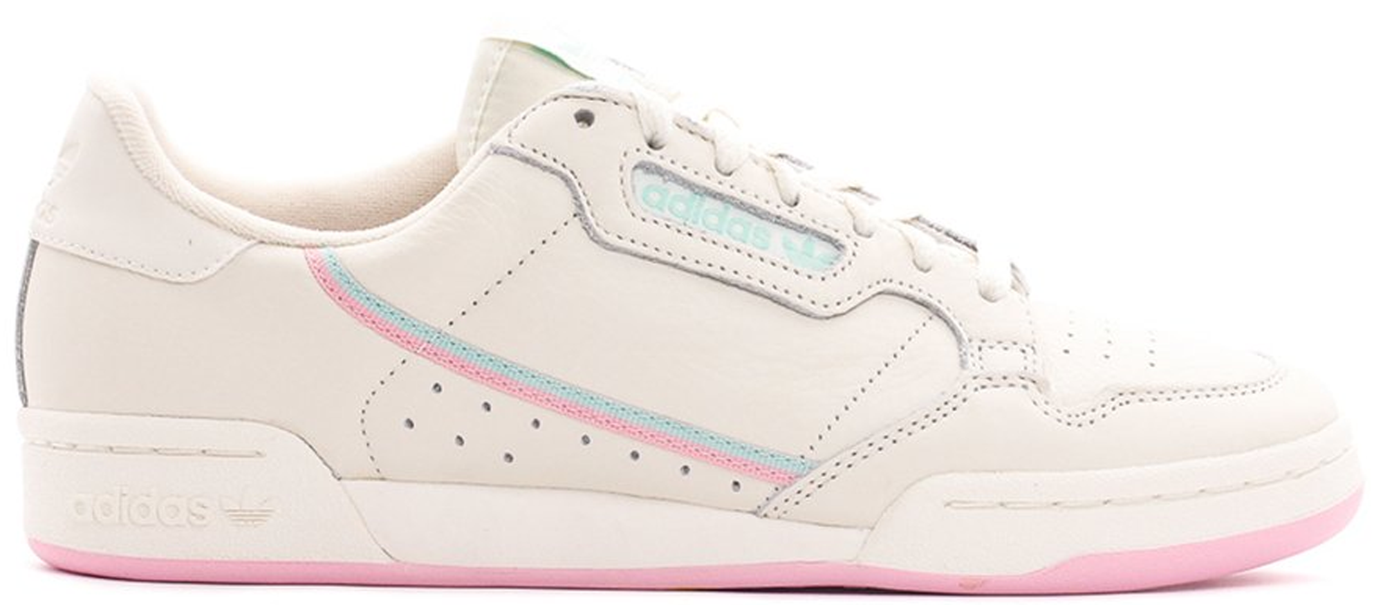 adidas continental 8 white pink