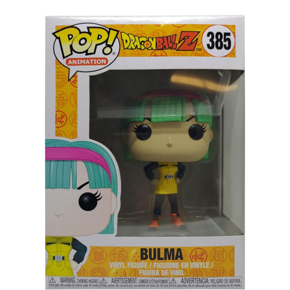 Pop Yellow Bulma Vinyl--Dragon Ball Z Pop Vinyl