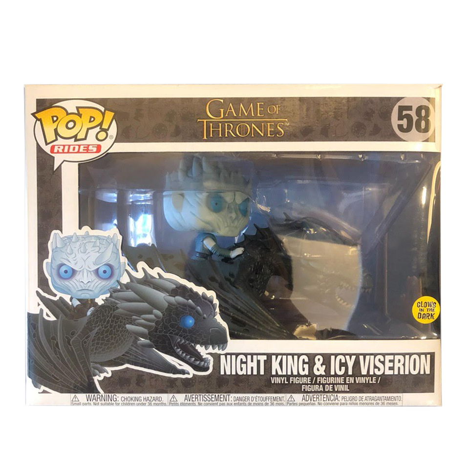 Night King /& Icy Viserion 58 Glows in the Dark Funk Pop Rides Game of Thrones
