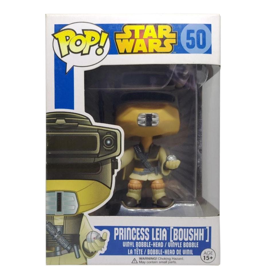 Boushh Funko Pop Bobble-HEAD VINILE NUOVO 50 Star Wars-Princess Leia