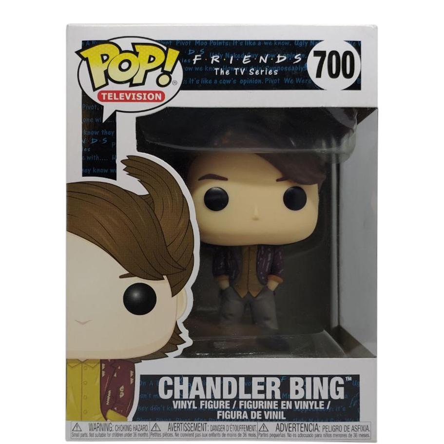 Friends Pop! Chandler Bing 80/'s Hair Funko