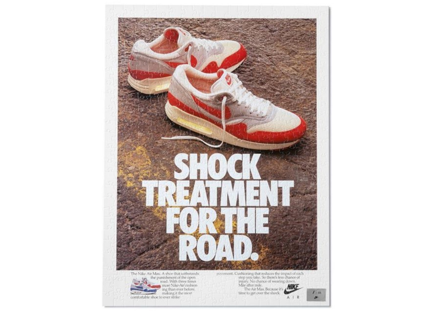 Nike Vintage Ad 1987 Shock Treament For The Road Puzzle