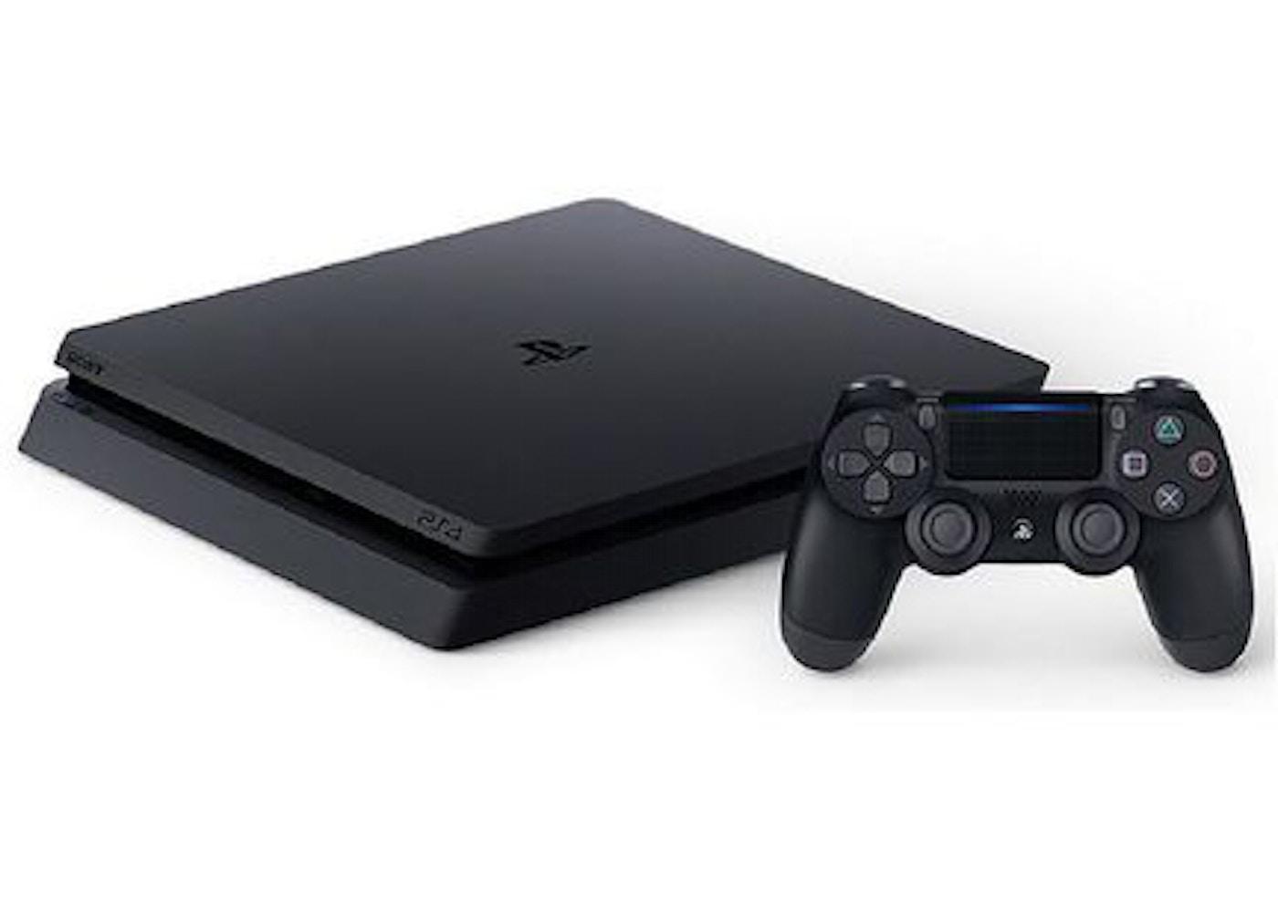 Sony PS4 PlayStation 4 Slim 1TB Console 3 Game Bundle Jet Black (CUH-2215B)  US Plug -