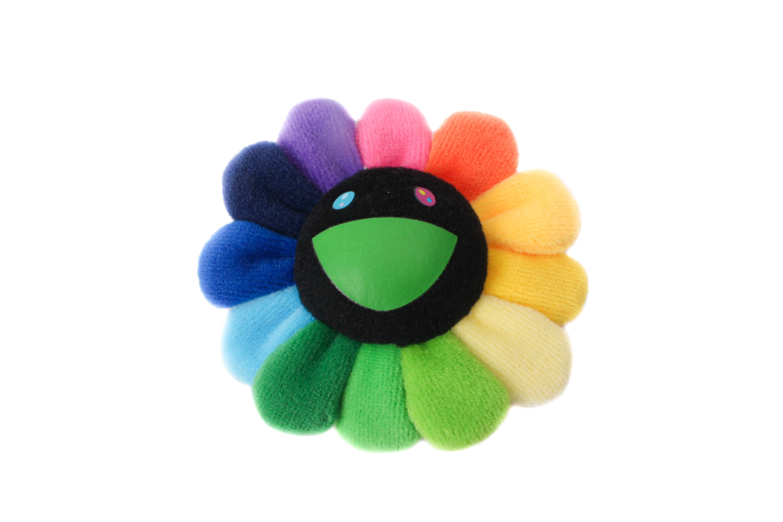 Takashi Murakami Flower Plush Pin Rainbow/Black by Stock X