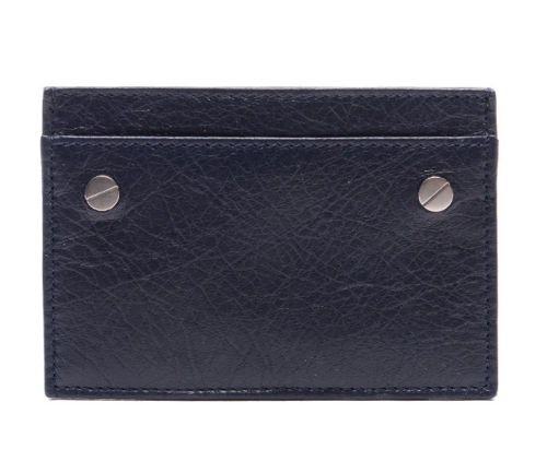 Balenciaga Card Holder Studded Navy