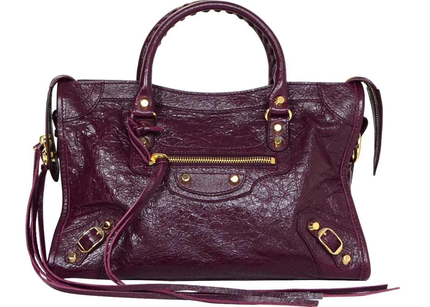 cbdb2ccd980 Balenciaga City Classic Shoulder Bag Distressed Small Burgundy. Distressed  Small Burgundy