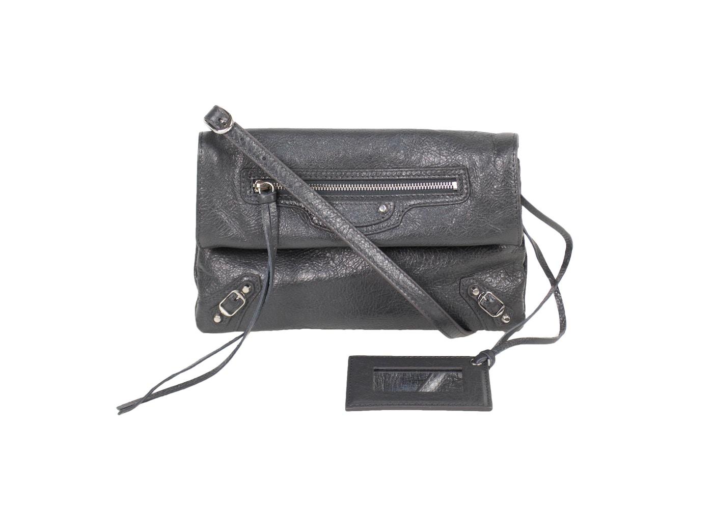 1b7bdfa112 Balenciaga Envelope Crossbody Classic Mini Gray