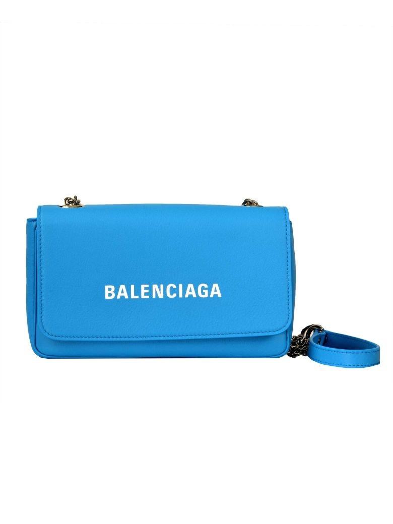 Balenciaga Everyday Chain Wallet Blue/White