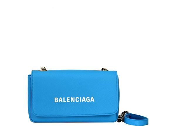 Balenciaga Everyday Chain Wallet Blue White 94230eb6d89a3