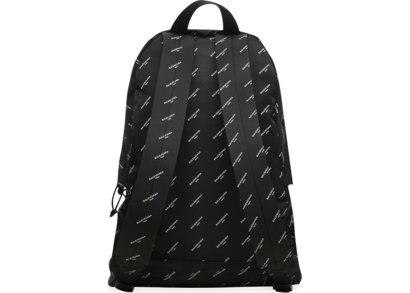 Balenciaga explorer backpack logos large black white