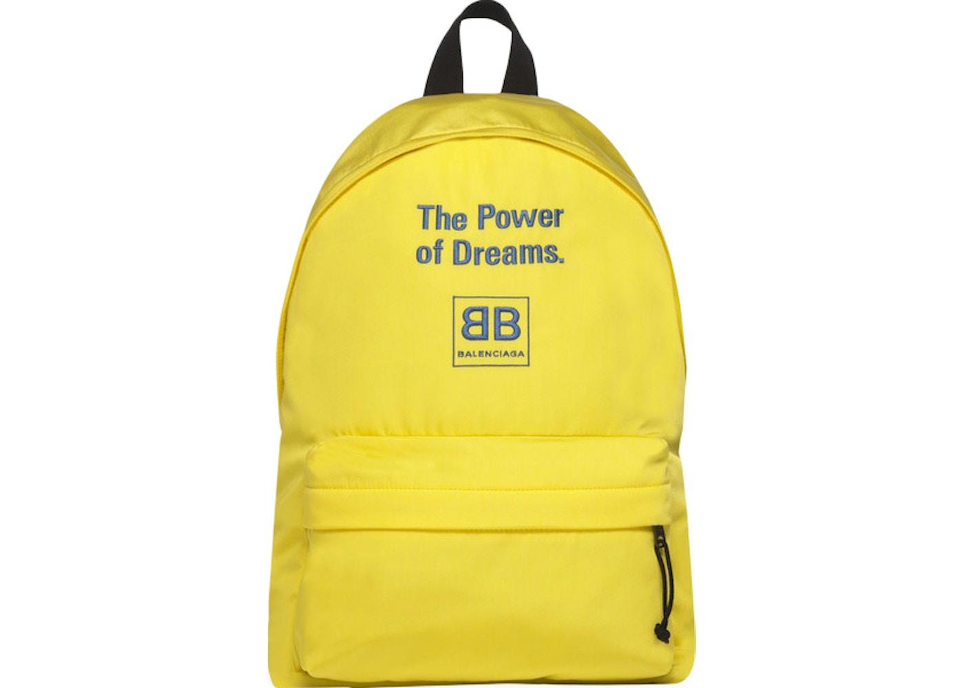 Balenciaga Explorer Backpack The Power of Dreams Large Yellow Blue 45bdeb1a6a4b6