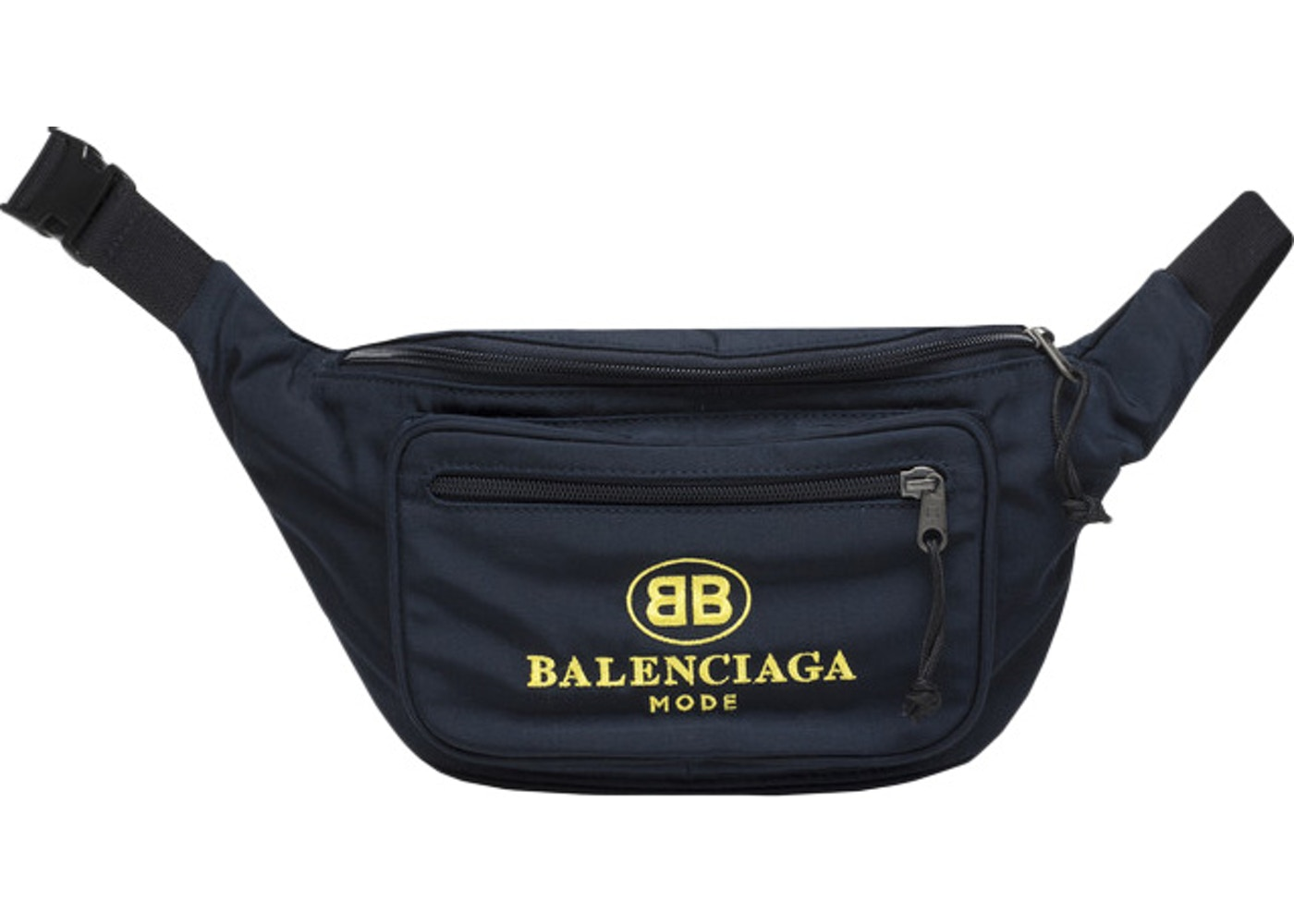 620c3420810a Balenciaga Explorer Belt Bag BB Mode Navy Yellow. BB Mode Navy Yellow