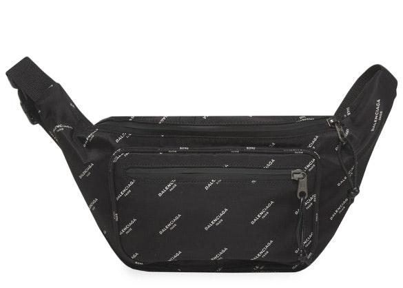 Balenciaga Explorer Belt Bag Logos Black