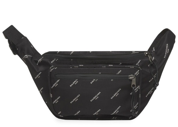 Balenciaga Explorer Belt Bag Logos Black