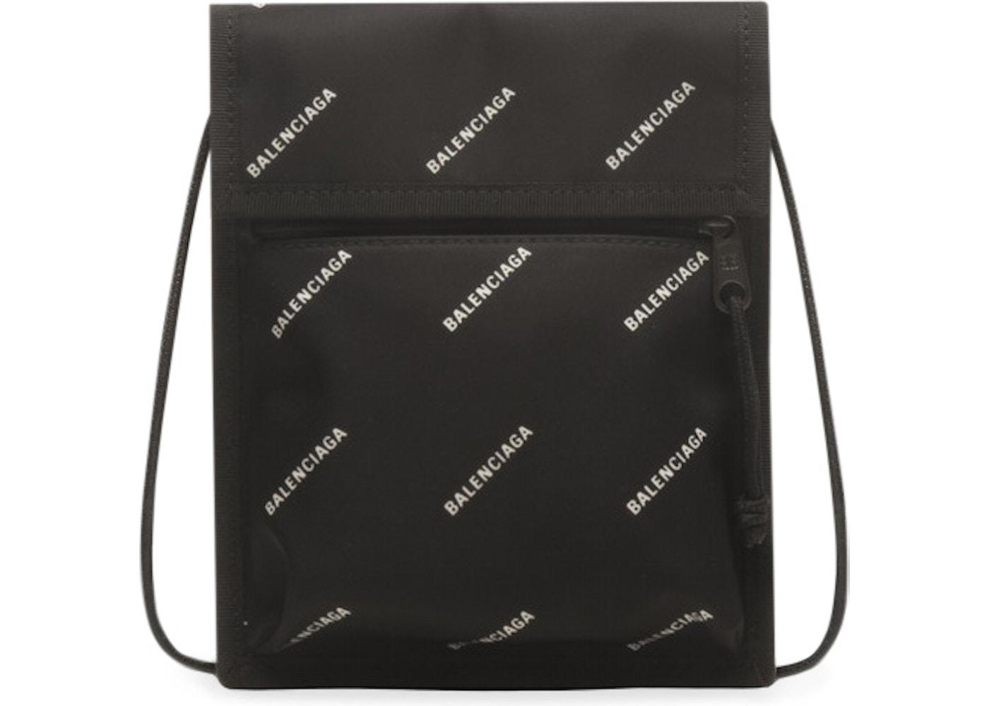 0d9d28d64ec Balenciaga Explorer Pouch Strap Logos Small Black/White. Logos Small Black/ White