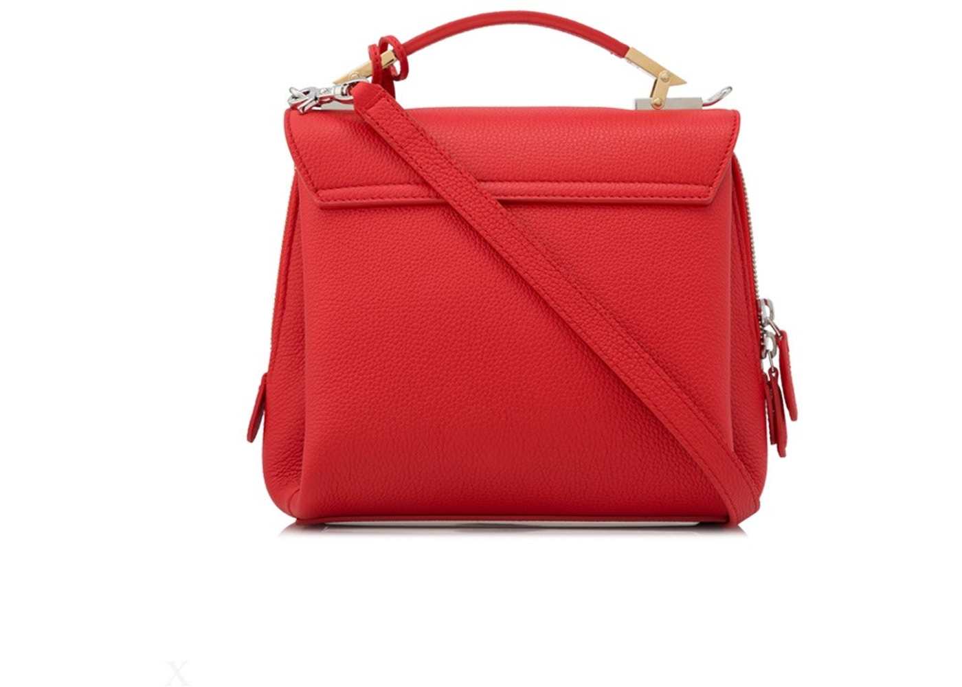 pas mal 6cb91 1728f Balenciaga Le Dix Satchel Mini Rouge