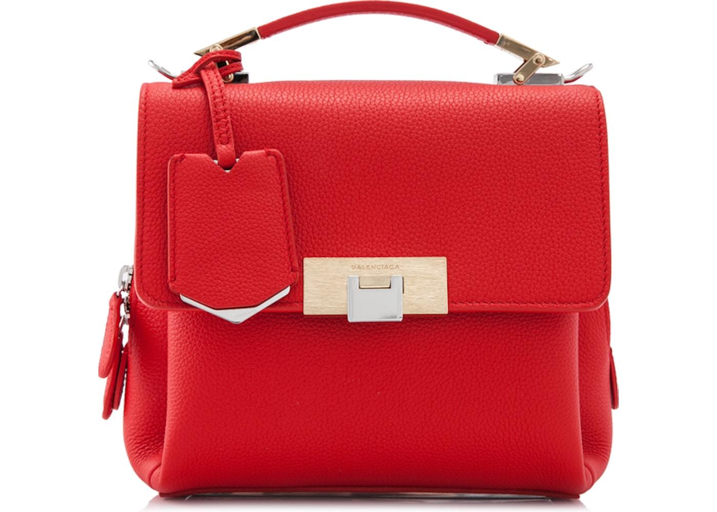 Balenciaga Le Dix Satchel Mini Rouge