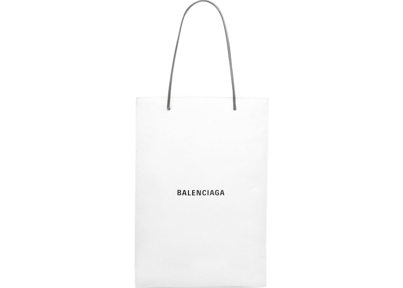 fc378a7707 Balenciaga North-South Shopping Bag Long Medium White Black. Long Medium  White Black