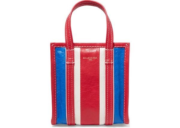 744dfa5b3cb7 Balenciaga Shopper Bazar Striped XXS Blue Red White