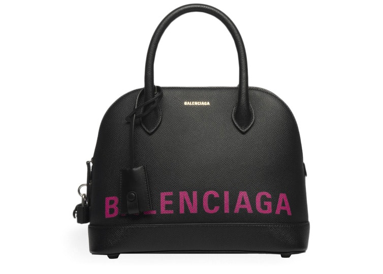 Balenciaga Ville Top Handle S Black/Pink