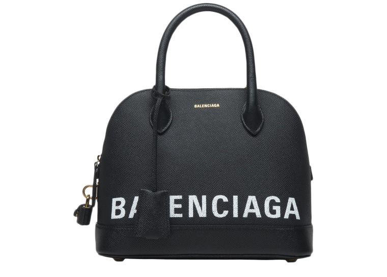 Balenciaga Ville Top Handle S Black/White