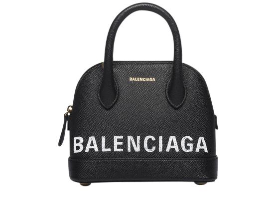 Balenciaga Ville Top Handle XXS Black/White