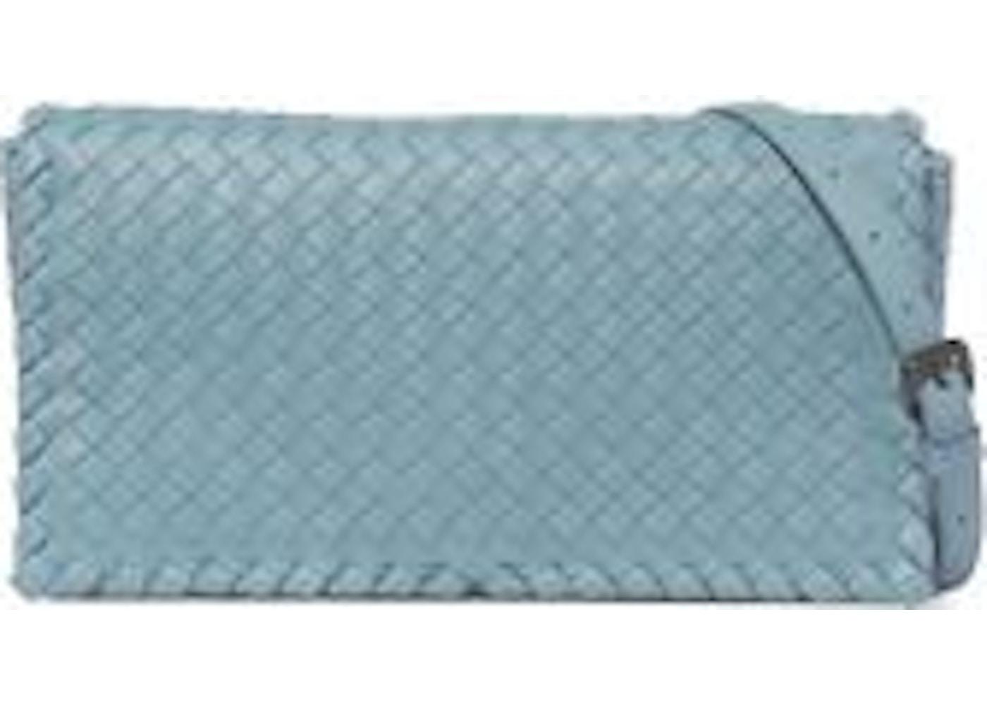 Sell. or Ask. View All Bids. Bottega Veneta Clutch Nappa Intrecciato  Lambskin Medium Blue 2147f354285cb