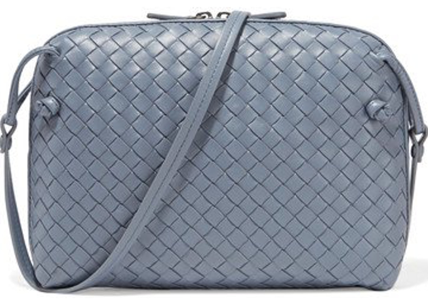 fd243395b098 Bottega Veneta Nodini Crossbody Nappa Intrecciato Lambskin Small Cornflower  Blue. Nappa Intrecciato Lambskin Small Cornflower Blue